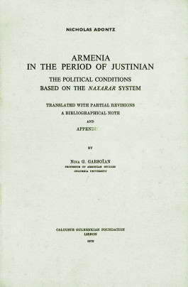 Armenia in the Period of Justinian